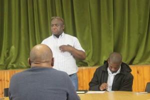 Acting MM Mr Mtalo Adressing Employees