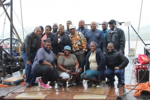 At the Ferry Boat Visit - the GKM Team