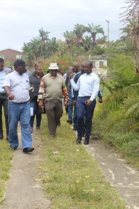 GKM Mayor and Management leaving one of the sites.