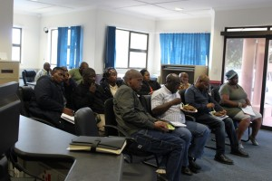 a robust discussion to give a way forward took place at the Chinsta Sattelite Office after all sites were visited